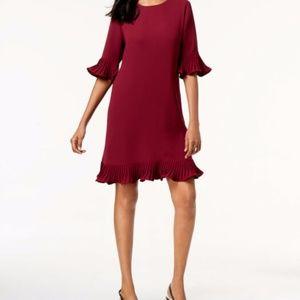 NWT Alfani Pleated Flounce Dress